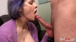 AGEDLOVE Mature with Big Natural Tits Hard Fucked