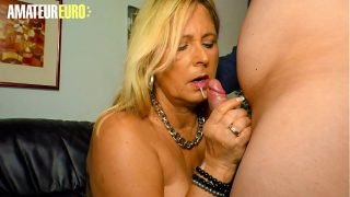 AMATEUR EURO – German BBW Blonde Kiki R. Goes Wild For Husband Dick