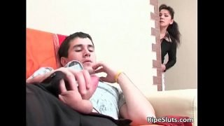 Dirty horny mature brunette gets her old