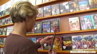 Grandma Miluska Fucking A Young Video Store Clerk