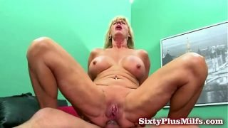 Granny blows and gets anal sex
