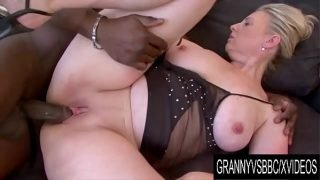Granny Vs BBC – Mature Nicol Gets Plowed by Her Black Lover