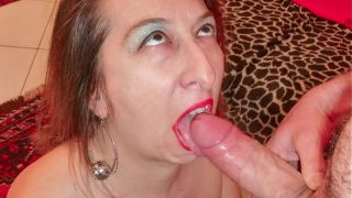 Italian mature brunette gets rough anal sex