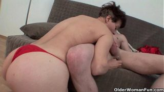 Mature meaty pussy lips feel so good around your cock