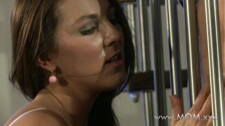 Mature mom Horny brunette craves his cock