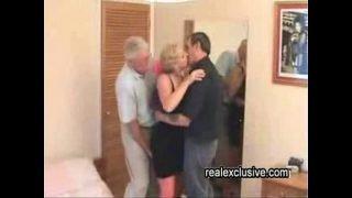 Mature Swinger trio in a hotel
