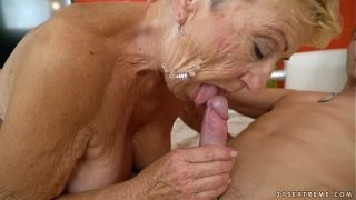 Old granny fucks the young mechanic – Lusty Grandmas