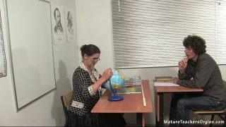 Russian mature teacher 5 – Irina (geography lesson)